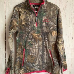 Realtree Women's Med 1/4 Zip Pullover Jacket